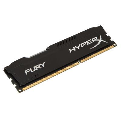 HyperX FURY Black 4GB 1600MHz DDR3 RAM-geheugen - Zwart