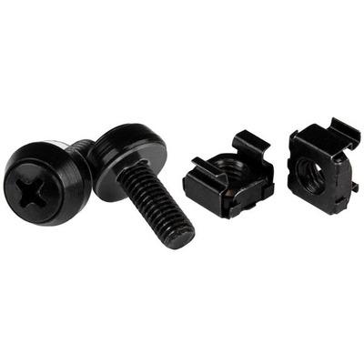 Startech.com schroef en bout: M6 x 12mm schroeven en kooimoeren 100 stuks pak zwart