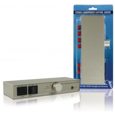 Valueline volumeregelaar: 2-way speaker control box - Zilver