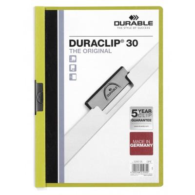 Durable Duraclip 30 Stofklepmap - Groen, Transparant