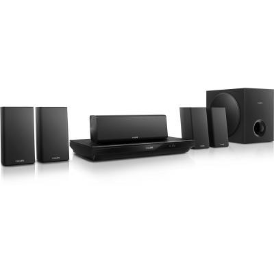 Philips home cinema system: 5.1 3D Blu-ray home cinema - Zwart