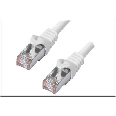 DINIC 2x RJ45, Cat.6 Patch cable, PiMF/S-FTP, 2m Netwerkkabel - Wit