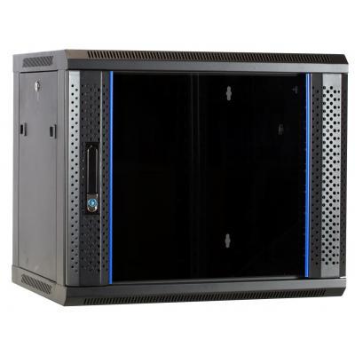 DS-IT 9U wandkast met glazen deur 600x450x500mm Rack