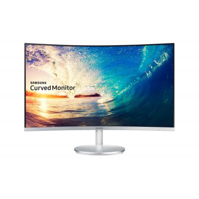 Samsung monitor: LC27F591FDU - Zilver, Wit