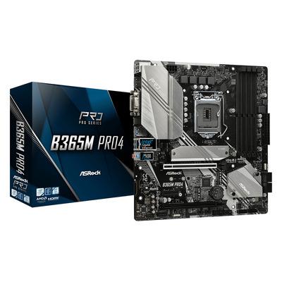 Asrock Intel B365, 4 x DDR4 DIMM 64GB max, BIOS 128Mb, 7.1 CH HD Audio, Gigabit LAN, Micro ATX Moederbord
