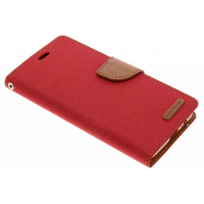 Canvas Diary Booktype Samsung Galaxy A8 (2018) - Rood / Red Mobile phone case