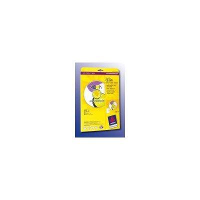 Avery etiket: CD/DVD-etiketten, Classic size Ø 117mm met centreerhulp Doos 25 vel. - Wit