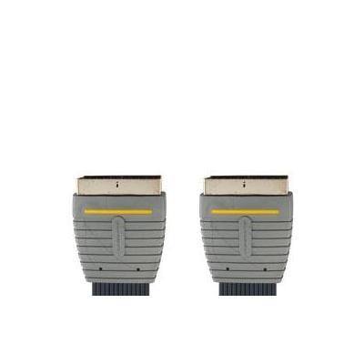 Bandridge : Flat SCART AV Cable - Zwart, Grijs