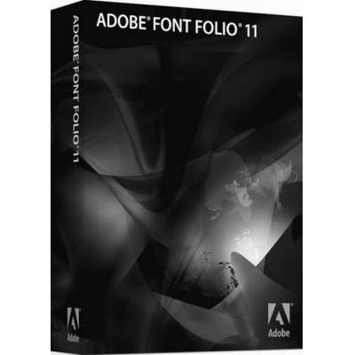Adobe fontsoftware: Font Folio 11.1, MLP, ENG