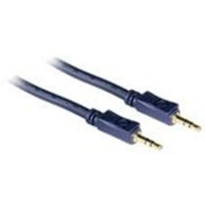 C2G 1m Velocity 3.5mm Stereo Audio Cable M/M - Zwart