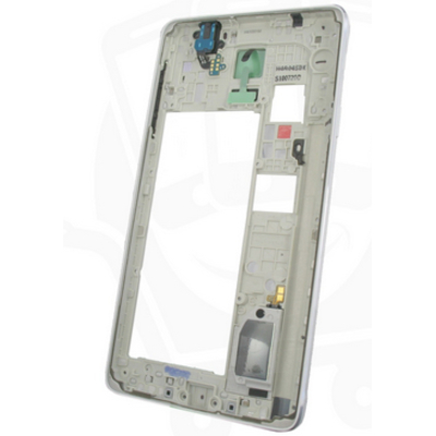 Samsung mobile phone spare part: SM-N910F Galaxy Note 4, Middle Cover + Antenna White/Silver