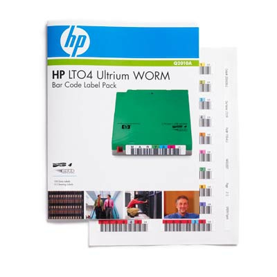 Hewlett packard enterprise barcode label: HP LTO4 Ultrium WORM Bar Code Label Pack