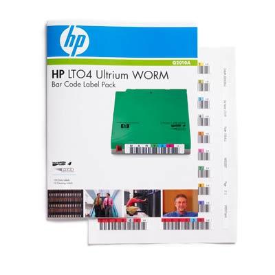 Hewlett Packard Enterprise HP LTO4 Ultrium WORM Bar Code Label Pack Barcode label