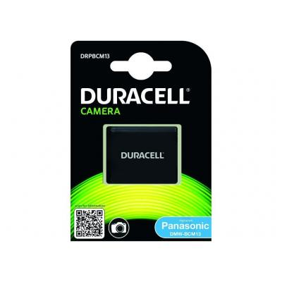 Duracell batterij: Camera Battery 3.7V 1000mAh 3.7Wh, Panasonic DMW-BCM13 - Zwart