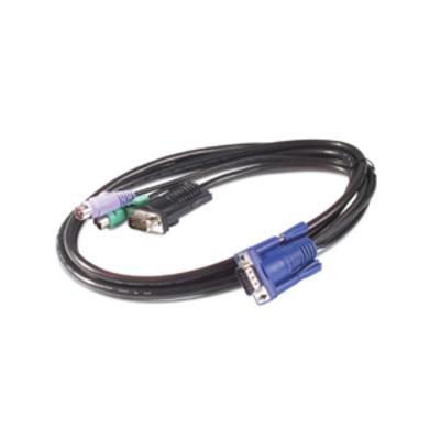 APC 1.8m KVM PS/2 Cable KVM kabel - Zwart