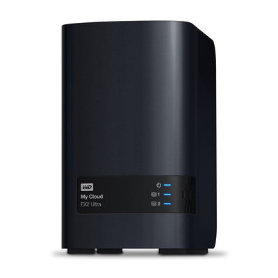 Western Digital My Cloud EX2 Ultra 3.5 Inch 2 bay My Cloud EX2 Ultra, 4TB, Zwart NAS