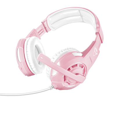 Trust GXT 310 Radius - On-ear Gaming (PC + PS4 + Xbox One) - Roze\/Wit Headset - Roze,Wit