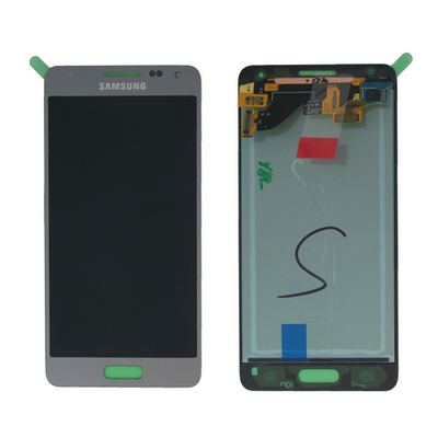 Samsung mobile phone spare part: SM-G850F Galaxy Alpha, Complete Display LCD+Touchscreen, silver