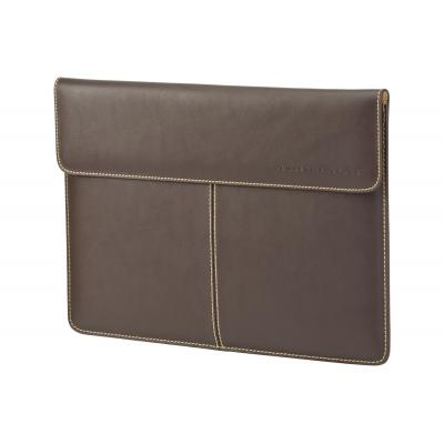 "Hp laptoptas: 33.8 cm (13.3"") Premium Leather Sleeve - Bruin"