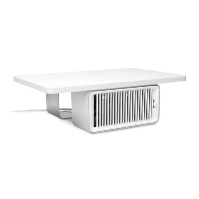 Kensington CoolView™ Wellness-monitorstandaard met bureauventilator Monitorarm - Wit