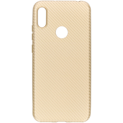 CP-CASES Carbon Softcase Backcover Huawei Y6 (2019) - Goud - Goud / Gold Accessoire