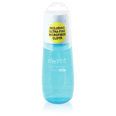 Ewent Schermreiniging Reinigingskit - Blauw, Wit
