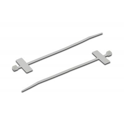 ASSMANN Electronic Cable Tie w/ Marker Plate, Transparent, Nylon, 100 Pcs Kabelbinder - Transparant