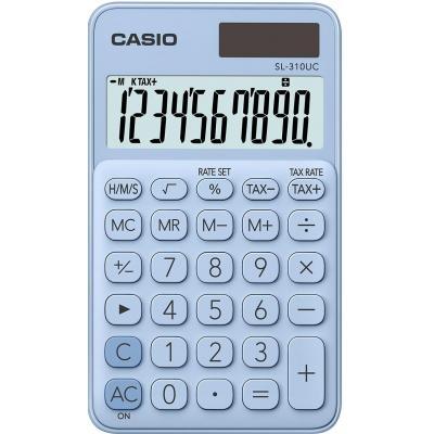 Casio 10 digits, Solar + Battery, Tax/Time calculation, 50 g Calculator - Blauw
