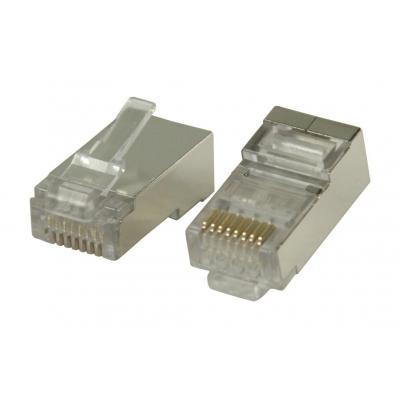Valueline kabel connector: RJ45 connectors for stranded STP CAT6 cables - Zilver