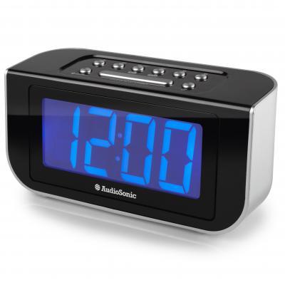 Audiosonic radio: CL-1475 Klokradio - Zwart, Zilver