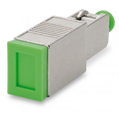 Spaun SODE 3 SC/APC Fiber optic adapter - Groen, Metallic