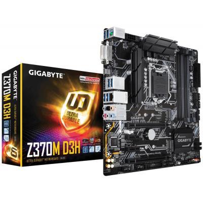 Gigabyte moederbord: Intel Z370, LGA1151, 4x DDR4 DIMM, 2x PCI Express x16, 2x PCI Express x1, DVI-D, HDMI, GbE LAN, 2x .....