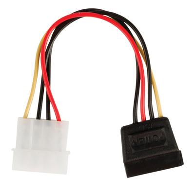 Valueline Internal power adapter cable SATA 15-pin female - Molex male 0.15 m multicolour - Zwart,Rood,Wit,Geel