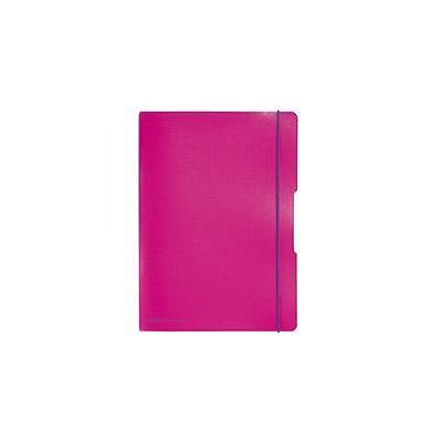 Herlitz Noteb.flex PP A4, 40squ+40rul. pink my.book