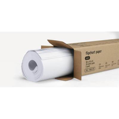 Legamaster Flipchart paper pad plain, 98 x 65 cm, 80 gsm, 5 pcs Board accessorie - Wit