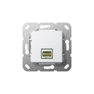 GIRA Basiselement Modular Jack RJ45 Cat.6 10 GB Ethernet Snijklemtechniek wandcontactdoos - Wit