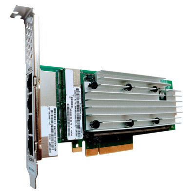 Lenovo ThinkSystem QLogic QL41134 PCIe 10Gb 4-Port Base-T Ethernet Adapter Netwerkkaart - Groen,Zilver