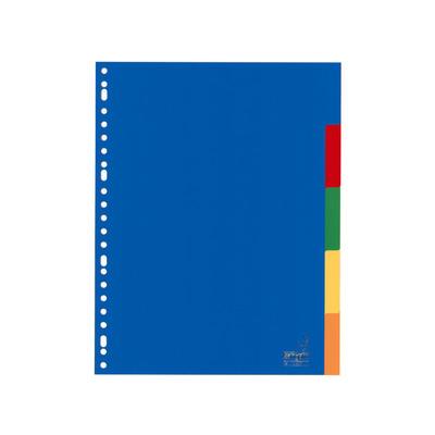 Kangaro Tabblad A4 blanco PP 120mµ assorti 23r 5dlg Indextab - Blauw