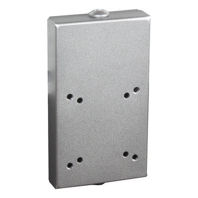 Dataflex Viewmaster railadapter voor wandmontage - optie 072, zilver Muur & plafond bevestigings accessoire