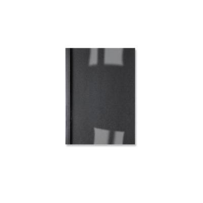 Gbc binding cover: Met Linnenprint, per 100 - Zwart