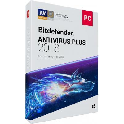 Bitdefender firewall software: Antivirus Plus 2018 (2 Jaar / 3 Devices)
