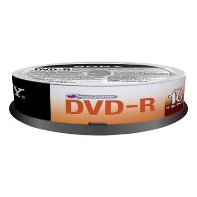 Sony DVD: 16X DVD-R, geleverd in een spindle boxverpakking van 10 stuks. Ideaal voor het snel opnemen van gegevens.