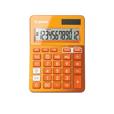 Canon calculator: LS-123k - Oranje