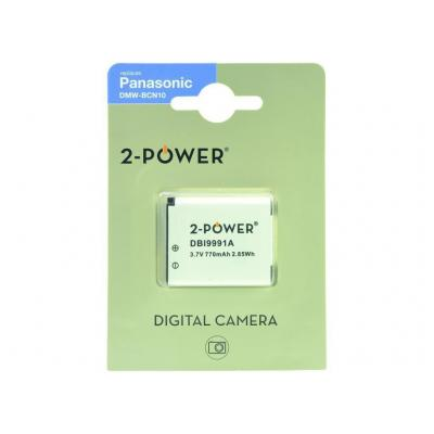 2-power batterij: Digital Camera, Lithium ion, 3.7 V, 770 mAh, 14 g, Rectangular - Wit