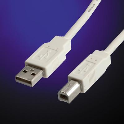 Value USB 2.0 Cable, Type A-B, 3 m USB kabel - Grijs