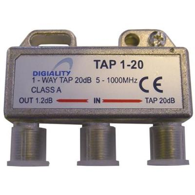 Digiality kabel splitter of combiner: 1-way tap 1.2 /20 dB 5-1000 MHz