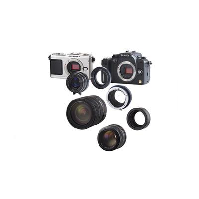 Novoflex lens adapter: Adapter Pentax K Obj. an Micro Four Thirds Kameras - Zwart