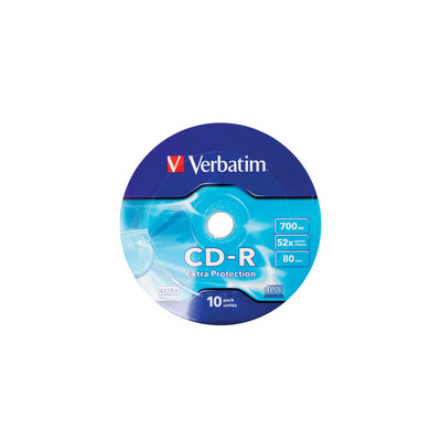 Verbatim CD-R 52X 700MB 10PK OPS Wrap EP CD