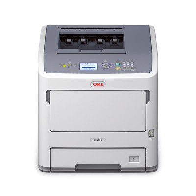 Oki laserprinter: B731dnw - Grijs, Wit