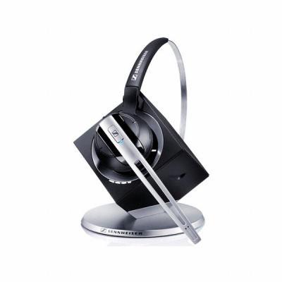 Sennheiser DW Office PHONE Headset - Zwart, Geborsteld staal